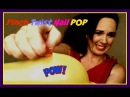 PINCH to pop with  FINGER NAIL 3 mini water balloons plus blow up inflate