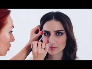 Зимний макияж: небрежные smoky eyes