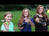 3 Girls = RC Helicopter Carnage - Syma F3