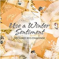 "Завадння грудня ""Use a Winter Sentiment"""