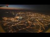 Ночной Петербург. Вид с самолёта