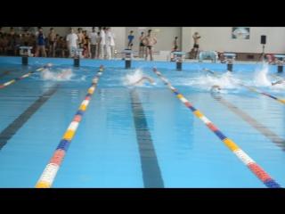 Соревнования по плаванию ,50 метров, вольный стиль :)