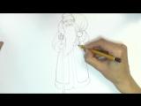Уроки рисования. Как нарисовать Деда Мороза how to draw santa claus step by step easy