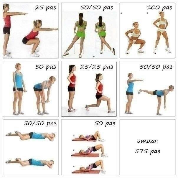 упражнения для похудения бедер видео