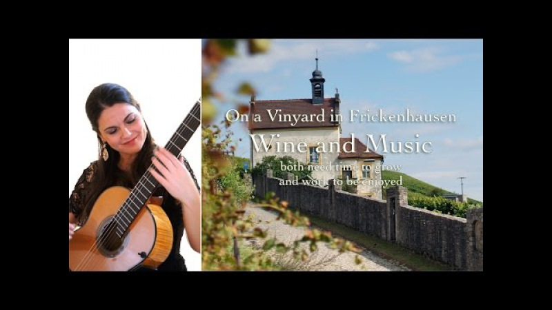 Capricho Árabe by Francisco Tárrega (classical guitar: Radmila Besic) - at a vineyard