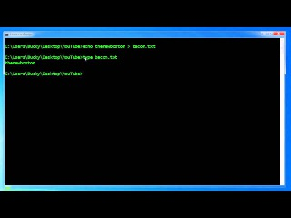 Windows Command Line Tutorial - 8 - Deleting and Appending to Files