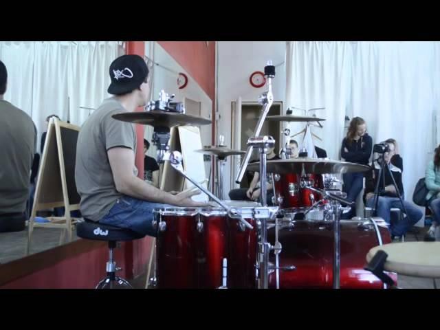 Мастер-класс барабанщика Александра Щиголева в Школе Ударного Мастерства
