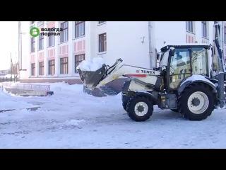 За прошедшую неделю с улиц Вологды вывезли 1500 кубометров снега