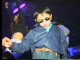 Gypsy kid dancing at club can't be bothered. 1997.