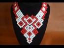 Колье из бисера Нифертити Оригинальное название Купала Бисероплетение Мастер класс