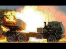 US Marines Firing the Extremely Powerful Multiple Rocket Launcher M142 HIMARS