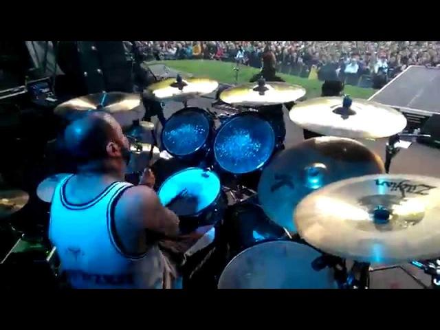 Limp Bizkit (Fans on stage) LIVE Hot Dog Behind the Drums, Germany, Stadtpark 24.06.2014