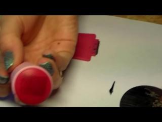 Видеоурок дизайна ногтей - стемпинг и градиент.