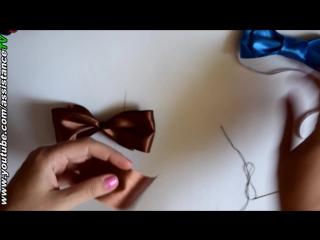 Галстук - Бабочка на шею своими руками  Поделки из атласных лент