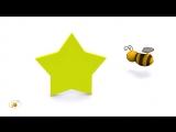 Развивающий мультфильм для детей от 12 до 36 месяцев. Пчёлка и геометрические формы - часть 1.