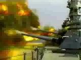 Мега залп американского линкора / Mega volley American battleship
