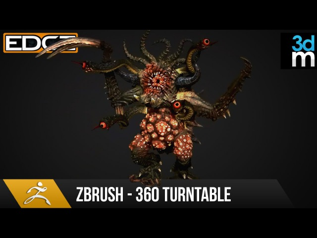 Zbrush Tutorial - Render a 360 Turntable for your Sculpts HD
