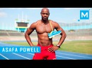 Asafa Powell(экс рекордсмен мира на 100м)стартовая скорость для футбола , быстрая сила,мощь