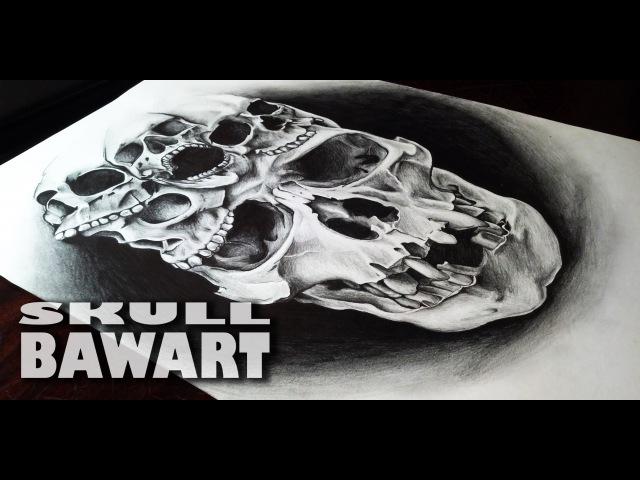 Рисунок черепа простым карандашом / SKULL / Ectomorph