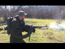 Стрельба из ПКМ ополченца ДНР - Shooting from the PKM