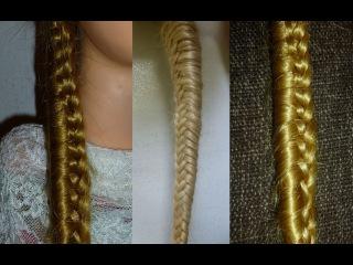 Причёска самой себе: Красивая Коса.Причёски с плетением косичек. Причёски для девочек в школу