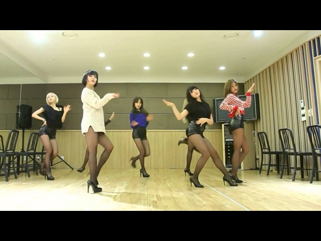 AOA - Miniskirt - mirrored dance practice video - Ace of Angels 에이오에이 짧은 치마