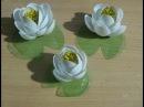 Кувшинки из одноразовых ложечек | Lilies of disposable spoons