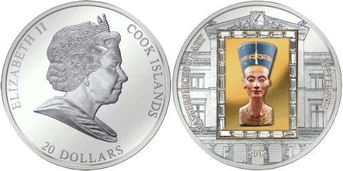 монета с изображением Нифиртити