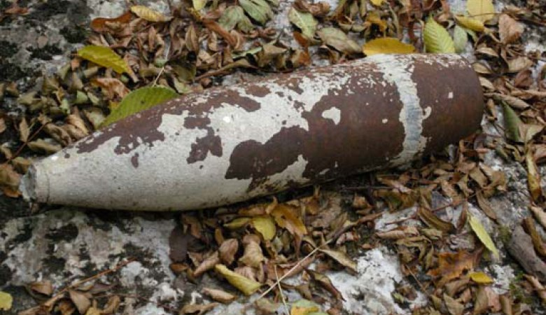 Недалеко от Таганрога найден 120 мм снаряд