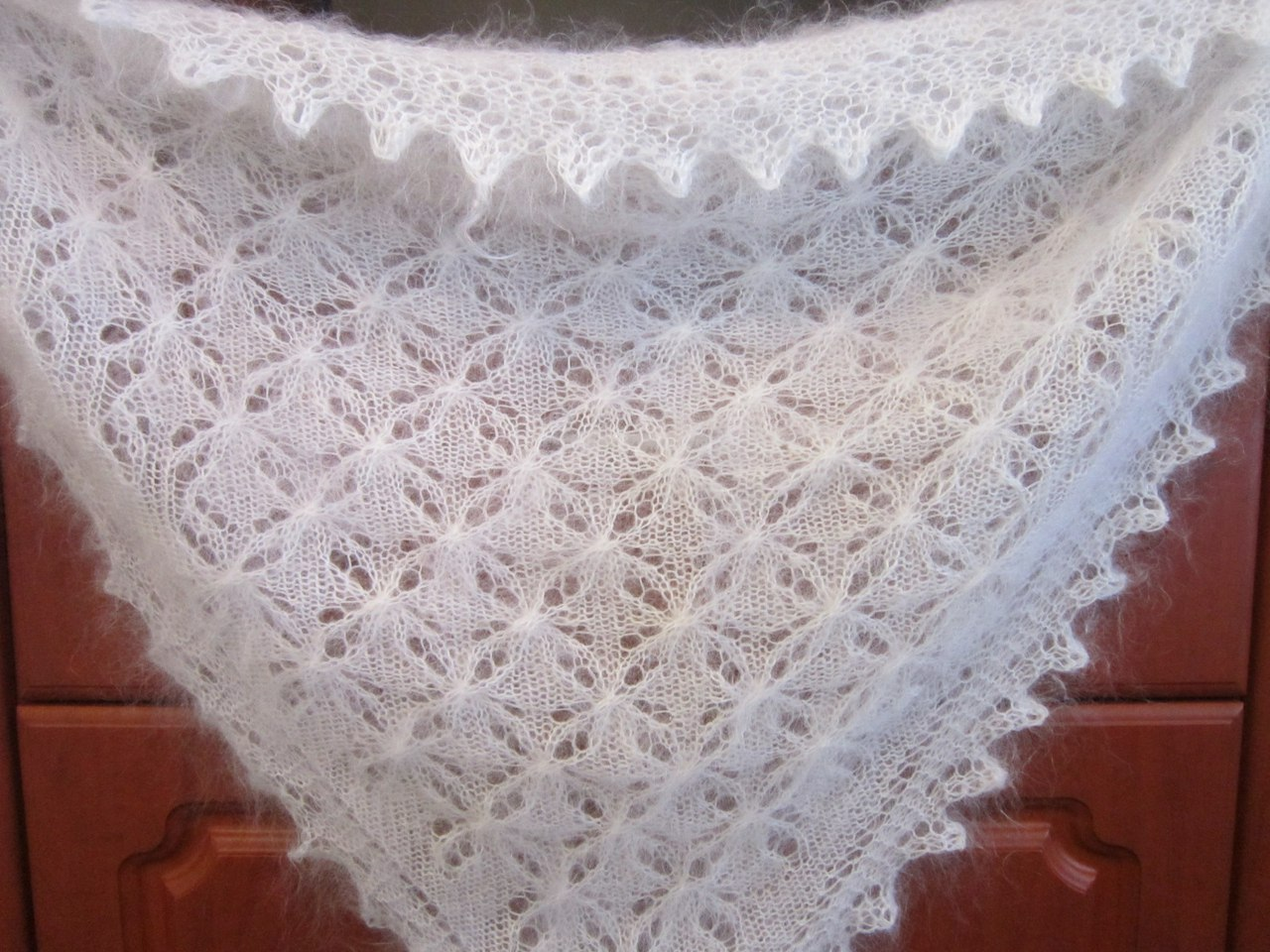 платок схема вязания с угла