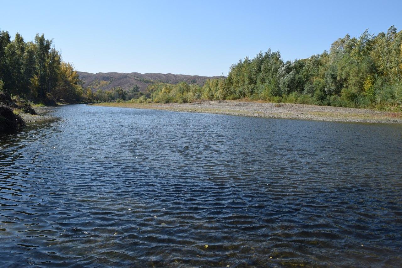 река Сакмара  у села Большое Чураево