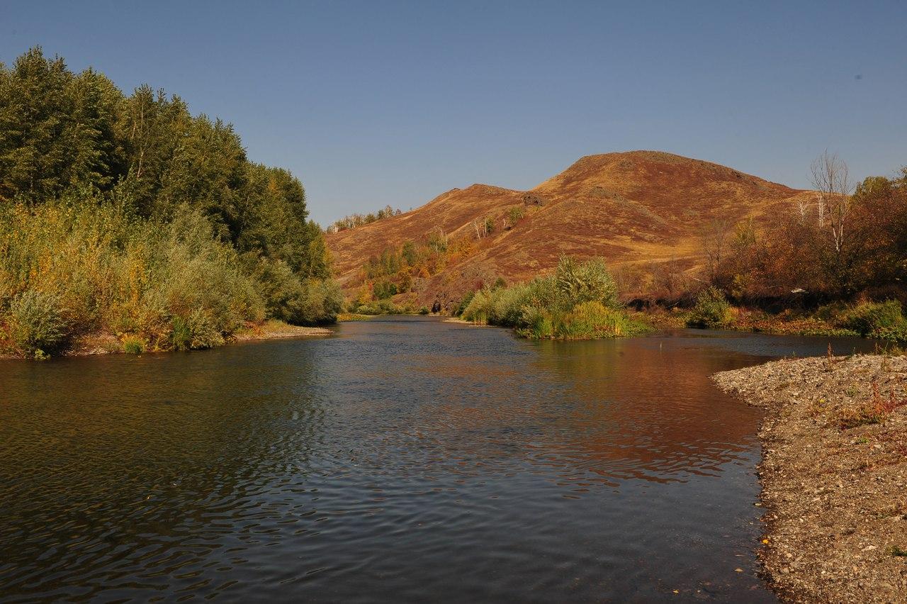 вид с реки Сакмара на гору Ищумган