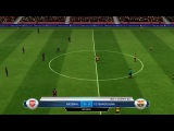 FC Arsenal - Barcelona 0-4 Friend match (26.12.2015) - FIFA 14