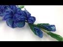 МК: ГЛАДИОЛУСЫ из БИСЕРА. Tutorial: Beaded Gladioli. Часть 2/2. Цветы из бисера