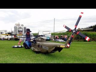 Большой радиоуправляемый вертолет CH53 Heer