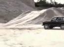 Сальто на автомобили НИВА прыжок на гору