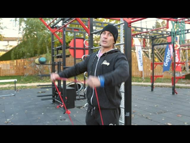 Дмитрий Яшанькин Тренировка с резиновыми петлями band4power
