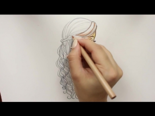 Drawing Tutorial ❤ How to draw and color Festive Hair for Christmas |