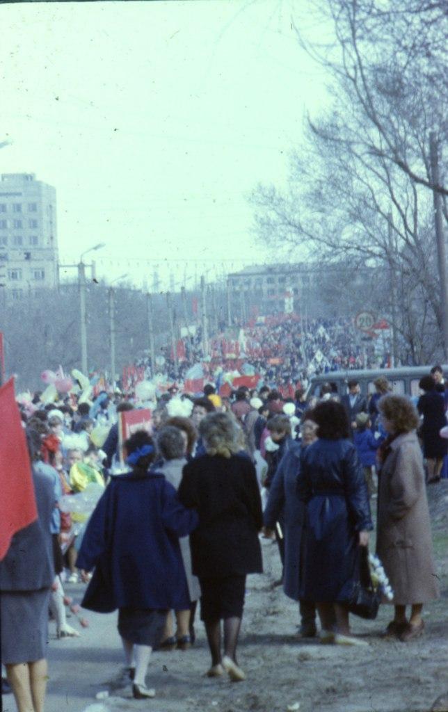 Демонстрация. 1985 год.