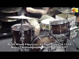 Pearl Wood Fiberglass Vintage Series - Satin Cocoa Burst - 20.12.14 - The Drum Shop North Shore