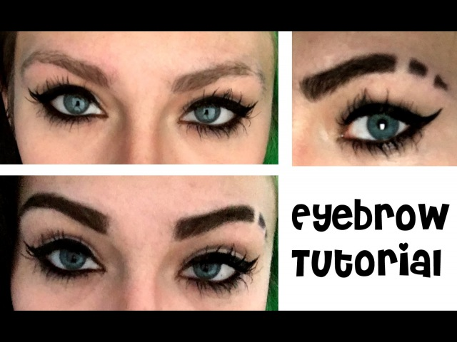 How I Do My Eyebrows (Shave Draw On) | HeyThereImShannon