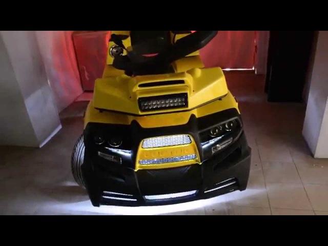 Музыка и тюнинг квадроцикла Cectek quadrift. Cабвуферы, люстра, подсветка. ATV Cectek custom sound.