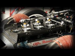 Alfa Romeo 155 V6 Ti DTM / ITC Warm Up - 2.5L V6 Engine Fuel Injectors ITBs View