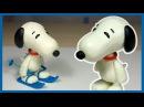 Лепим Снупи из мультфильма Снупи и мелочь пузатая из пластилина Snoopy The Peanuts Movie