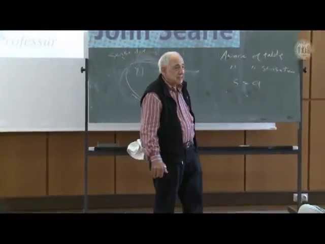 John Searle Seminar: Perception and Intentionality