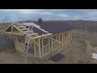 Каркасный гараж/мастерская 50м2 в одиночку