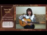 Уроки игры на гитаре с нуля для начинающих Урок 1 Часть 1 Видеоуроки игры на гитаре для начинающих