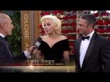 Интервью Леди Гага и Тейлора Кинни на премии «Золотой глобус 2016» (10 января)