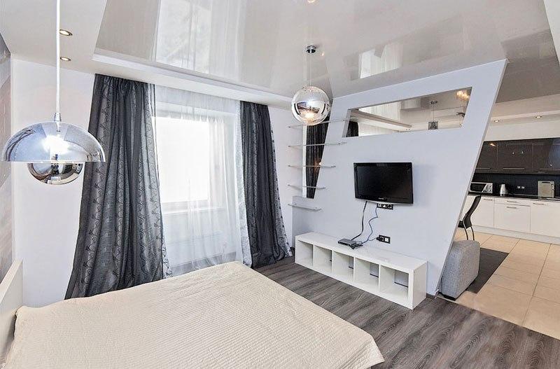 Дизайн просторной квартиры-студии 53 м в Екатеринбурге.