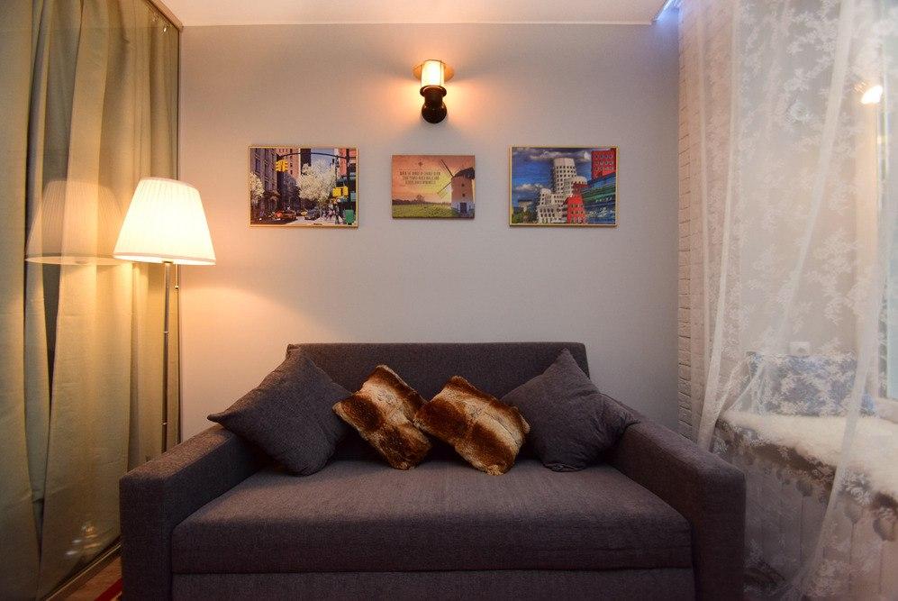 Дизайн небольшой квартиры 30 м в Москве от студии Buro Brainstorm.